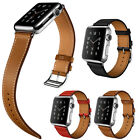 Single Tour Genuine Leather Straps Bracelet Watchband For Apple Watch 42MM/38MM
