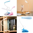 Dimmable Clip-On USB Rechargeable LED Touch Sensor Reading Light Desk Table Lamp