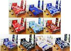 OFFICAL FOOTBALL CLUB TEAM - PATCH SINGLE BED DUVET COVER & PILLOW SET GIFT XMAS