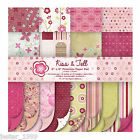 First Edition 6x6 Premium Paper Pad - KISS & TELL - Free UK p&p Cardmaking