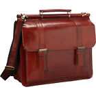 Mancini Leather Goods Luxurious Italian Leather Laptop Non-Wheeled Computer Case