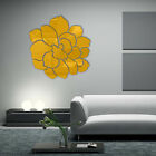 3D Mirror Effect Wall Sticker Rose Flower Art Home Decor Removable Room Decal US