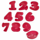 Birthday Cake Numbers 0-9 Silicone Mould Non Stick Bakeware Oven Safe Childrens