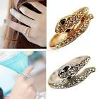 Fashion Women Girls Opening Ring Jewelry Snake Shaped Sterling Silver Plated