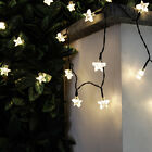 50 OR 100 LED 5M OR 10M SOLAR POWER OUTDOOR GARDEN PATIO PARTY STAR FAIRY LIGHTS