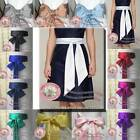 Satin sash belt ribbon F bridesmaid flower girl wedding fancy evening prom dress