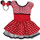 New Kids Girls Ballet Tulle Dress + Headband Polka Dot Net Yarn Dancewear 3-8Y