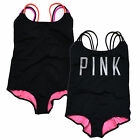 Victoria's Secret Swim One Piece Pink Bathing Suit Strappy Back Swimwear New Nwt