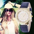 Geneva Fashion Watches Women Crystal Stainless Steel Analog Quartz Wrist Watch