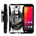 For LG Tribute 5 | Holster Clip + Tempered Glass + Case Stand  Cover + Belt Clip