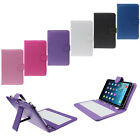 Latest 7 inch Universal Leather Case Cover with Micro USB Keyboard For Tablet PC