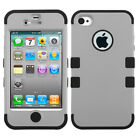 Impact Hard Case +Silicone Hybrid Protector TUFF Cover for iPhone 4 4S
