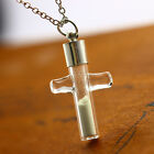 NEW Fashion Women Noctilucent Luminous Glass Pendant Necklace Cross Shaped