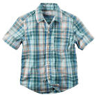 Carter's Boys Blue Plaid Short Sleeve Button Down Shirt - Toddler
