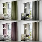 Curtina® LINED WOVEN EYELET CURTAINS LEIGHTON GREEN HEATHER GREY MOCHA