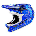 2016 Troy Lee Designs D3 Pinstripe 2 Helmet Chrome Blue BMX Mountain 13501830