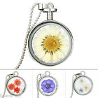 BD New Fashion DIY Silver Plated Dried Daisy Flower Pendant Necklace For Women