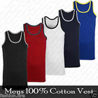 *Mens Boys 100% Cotton Vest Summer Holidays GYM  T-Shirt Top Vest Mens Top UKSXL