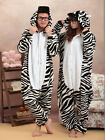 NEW Zebra Unisex Adult Pajamas Kigurumi Cosplay Costume Animal Onesie Sleepwear
