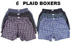 New 3-12 Mens Boxer Check Plaid Shorts Trunk Underwear Cotton Briefs Size S-4XL
