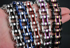 Colorful Fashion Mens Cool Stainless Steel Chain Link Bicycle Biker Bracelets