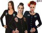 Banned Sugar Skull Swallow Black Cardigan Rockabilly Retro Punk 50's Emo Pinup