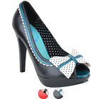 Banned BILLY JANE Bow Stars Vintage Platform Heels PEEP TOES Rockabilly
