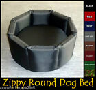 ZIPPY MED ROUND DOG BED WATERPROOF FABRIC 5'' REFLEX MATTRESS HIGH WALLS THERMAL