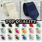 Quality New fashion Satin Mens Wedding Party Fancy Plain Necktie tie skinny tie