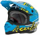 Acerbis X Pro Brush Motocross Enduro MX Off Road ATV Quad Helmet Blue/Yellow
