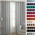 Faux Silk Luxury Thermal Coated Pair of Eyelet Ring Top Ready Made Curtains