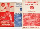 Aldershot HOME programmes 1960s 1970s Port Vale Preston Walsasll Reading York