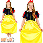Snow White Girls Fancy Dress Fairytale Princess Medieval Book Child Kids Costume