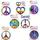 Peace Sign Static Cling Removable Stickers -- Choice of Styles