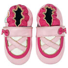 Momo Baby Girls Pink Ballerina Soft Sole Leather Shoes