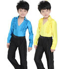 New Kids Dancewear Boys Latin Tango Salsa Dance Costume Breathable Top + Pants