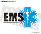 EMS Decal Paramedic EMT Star Life First Responder Firefighter Window Sticker EMV