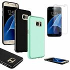 Ultra Thin Pudding Rubber TPU Soft Case Skin+Clear Film For Samsung Galaxy S7