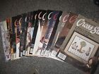 FOR THE LOVE OF CROSS STITCH MAGAZINES FROM 1988-2000,19 ISSUES TO CHOOSE FROM
