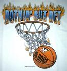 Big Dogs Tee Shirt White Nothin But Net Basketball Flames Men XLarge 2X 3X NEW