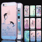 Crystal Clear Rubber Shockproof Protective Cover for iPhone 5 5s se 6 6s Case