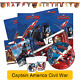 Captain America CIVIL WAR -Birthday PARTY RANGE (Tableware/Balloons/Decorations)
