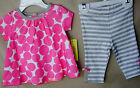 OFFSPRING 100% Cotton 2 pc BIG PINK DOT Tunic Set w/Legging GIRL SIZES NWT