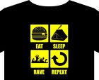 T shirt up to 5XL eat sleep rave repeat festival tent