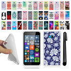 For Microsoft Nokia Lumia 640 TPU SILICONE Soft Protective Case Cover + Pen