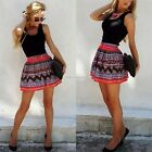 New Women Ladies Sleeveless Lace Skater A-Line Evening Party Cocktail Mini Dress