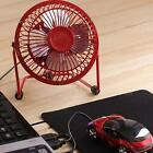 "4"" Metal Mute Portable Mini USB Cooling Desk Fan Cooler PC Laptop Computer STGG"