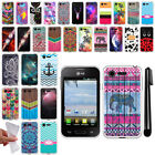 For LG Optimus Zone 2 Fuel VS415PP L34C TPU SILICONE Protective Case Cover + Pen