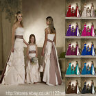 Maxi Long sash wedding party prom bridesmaid flower girl ballgown evening dress