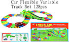 Children Kids Car Multi Variable Track Set Game With Lights & Sound Boy 128pcs